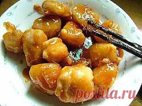 Бананы, жаренные в карамели (китайская кухня): .