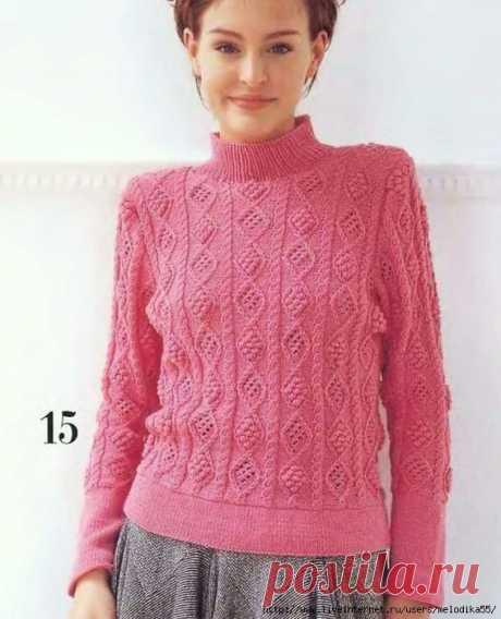 Спицы.Пуловер