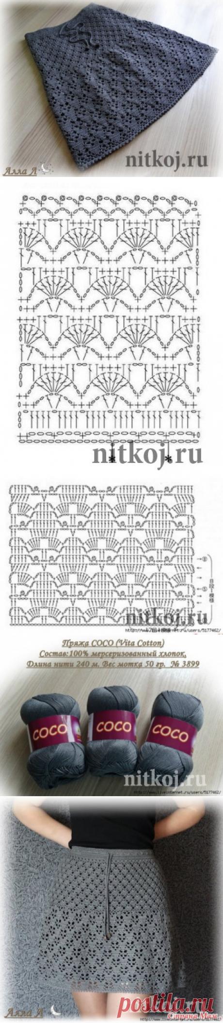 Юбка крючком «Антрацит» от Аллы Л » Ниткой - вязаные вещи для вашего дома, вязание крючком, вязание спицами, схемы вязания