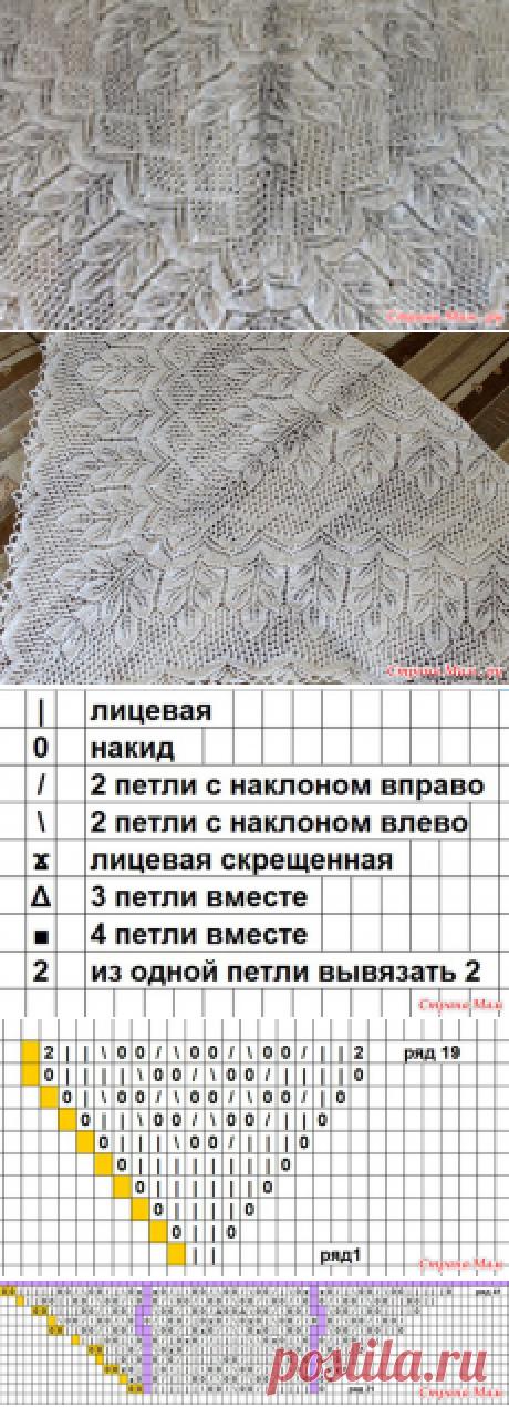Шикарная шаль спицами *Екатерина Великая*