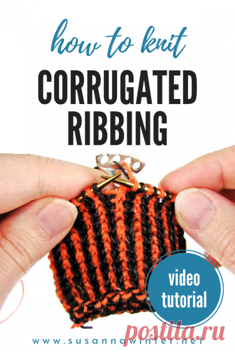 Alternating Two-color Long-tail Cast-on for Corrugated Ribbing [TUTORI Here are two tutorials for the techniques used in the Horror-riffic Halloween Mystery Mittens: a two-color cast-on for a two-color ribbing.