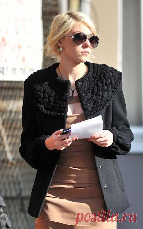 """Переделка пальто (из сериала """"Сплетница"""") для умеющих вязать Модная одежда и дизайн интерьера своими руками"""
