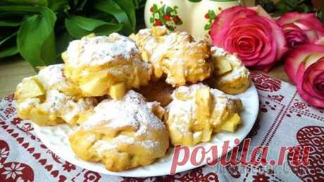 Таких вкусных не купить! Печенье тают во рту с яблоками и бананами
