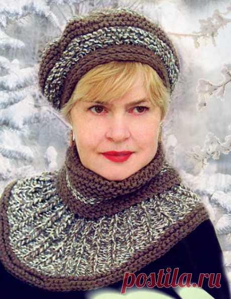 Вязаные береты для женщин пожилого возраста - 6 моделей женских шапок на 50-60 лет