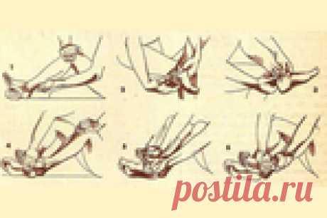 Самомассаж ног для активации кровообращения .