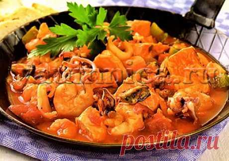 Рагу с морепродуктами - вкусный рецепт - Пошаговые рецепты с фото
