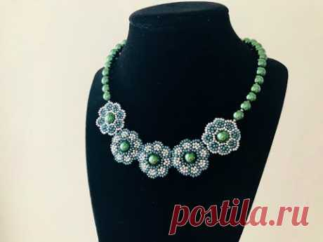 Elegant Party wear Beaded Necklace || DIY Beaded Necklace || How to make Beaded Necklace