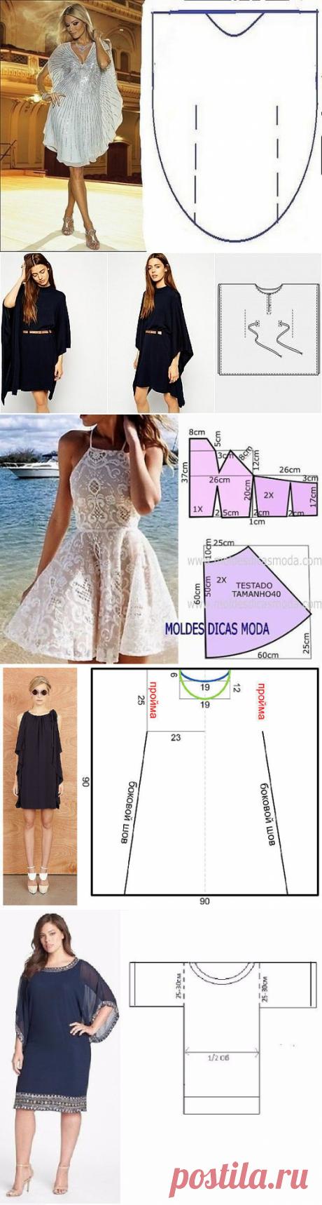 Los patrones, con que ayuda hasta la alumna sabrá coser el vestido por las manos.