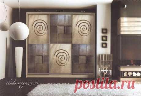 Шкаф-купе с фотопечатным изображением орнаментов на заказ ШФ-43. В интернет-магазине Chudo-magazin.ru в Москве.