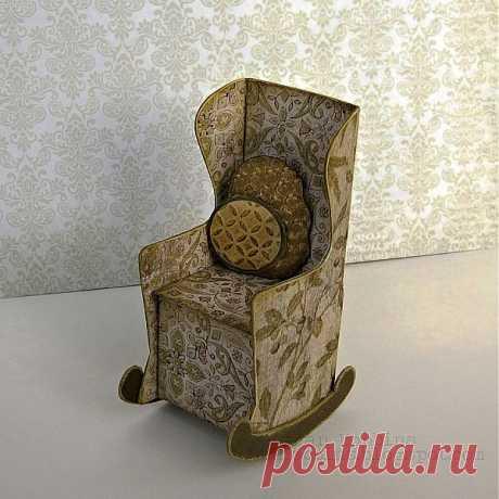 Скрапбукинг. Кресло-качалка из бумаги.