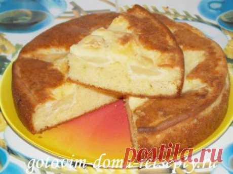 Яблочный пирог на сметане - даже вкуснее шарлотки, а готовить легче