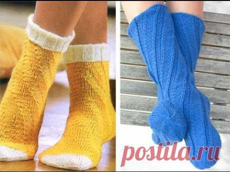 Спиральные носки. Выглядят очень красиво.