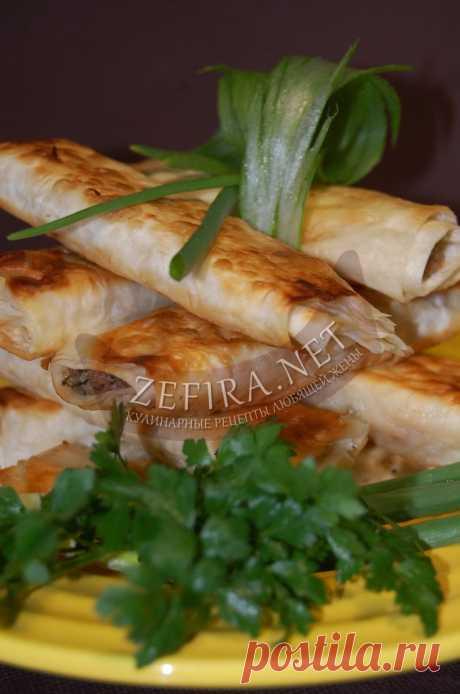 Вкусная закуска из лаваша с куриной печенью и сыром — Кулинарные рецепты любящей жены
