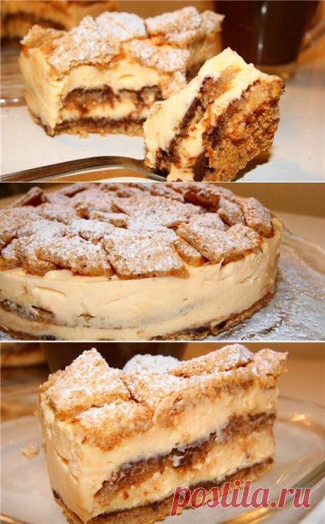 Орехово-лимонный тортик без единого грамма муки!