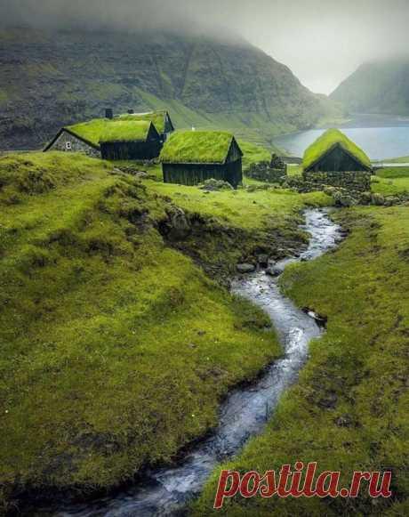 Туманная бухта на Фарерских островах  Фарерские острова как нельзя лучше подойдут для искушенных путешественников, решивших отдохнуть от ярких мегаполисов и шумных курортов. Здешняя природа необыкновенна: ущелья, озера, многочисленные водопады, фьорды, грациозные скалы — все это очаровывает с первого взгляда.