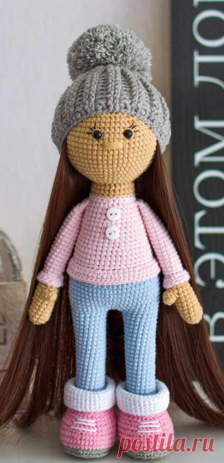 PDF Стеша крючком. FREE crochet pattern; Аmigurumi doll patterns. Амигуруми схемы и описания на русском. Вязаные игрушки и поделки своими руками #amimore - Кукла, куколка, пупс.