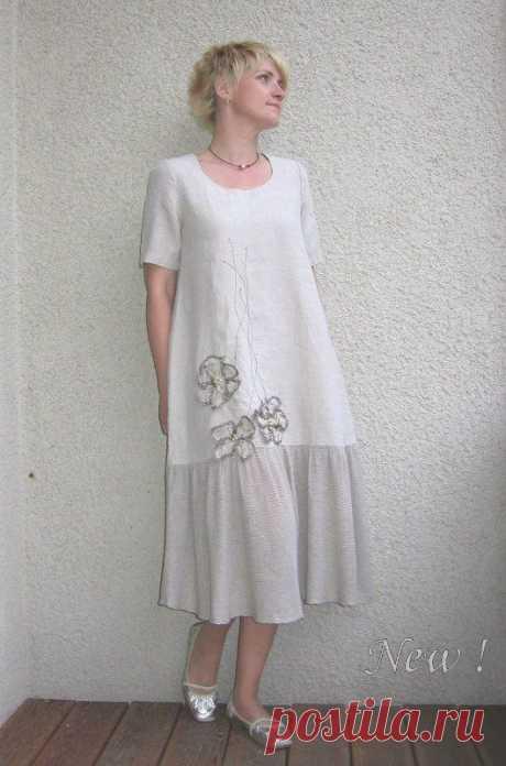 Экологичное льняное платье от ruuartele на Etsy, – диета россия