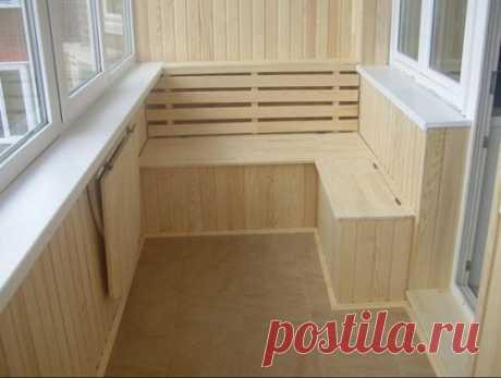 Обшить балкон внутри: фото гипсокартоном, сайдингом, ПВХ, ламинатом