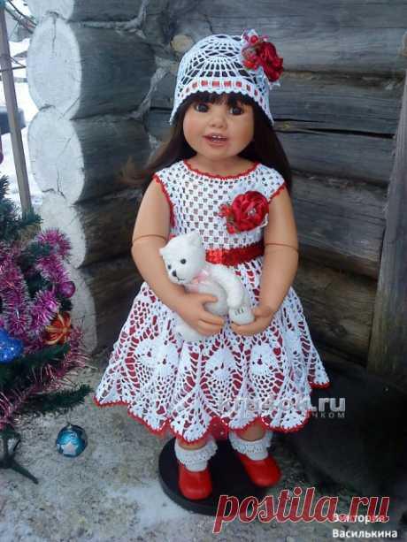 Детские платья крючком. Работы Виктории
