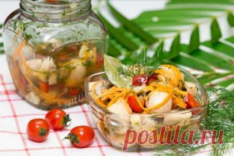 Грибы маринованные с овощами