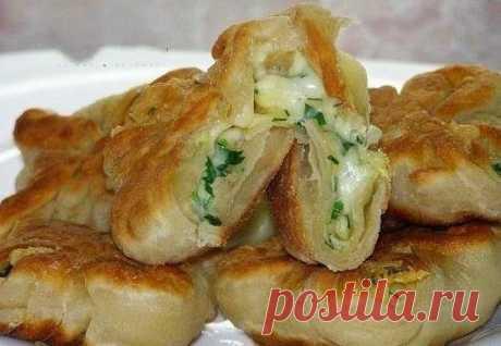 Как приготовить кефирные конвертики с сыром . - рецепт, ингредиенты и фотографии