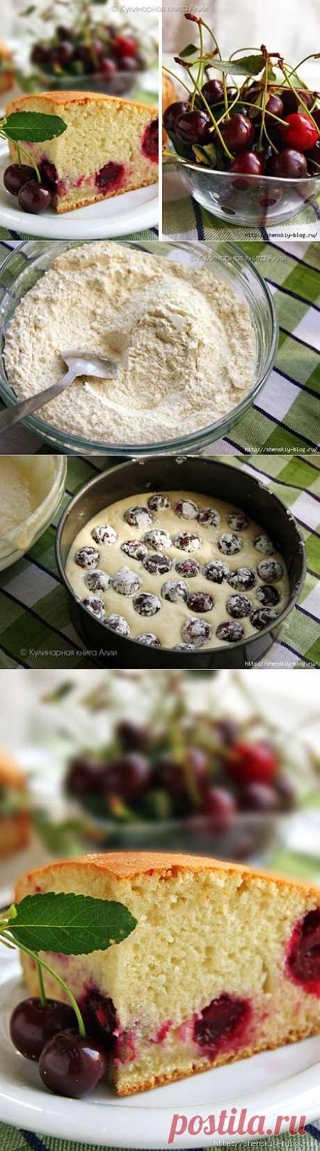 Пирог с вишней на минералке - такой вы еще не пробовали!.