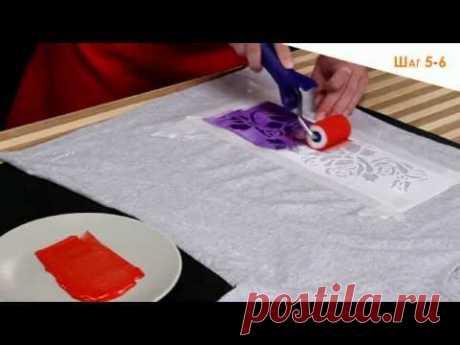 роспись акриловыми красками по ткани «ТАИР»