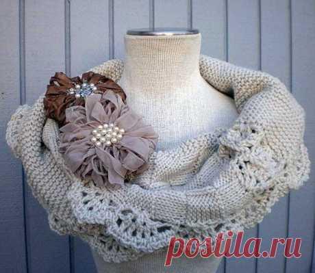 Креативный шарф для экстравагантной дамы из категории Интересные идеи – Вязаные идеи, идеи для вязания