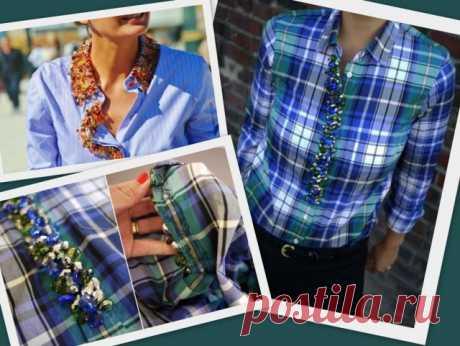 Рубашки, расшитые бусинами / Рубашки / Модный сайт о стильной переделке одежды и интерьера