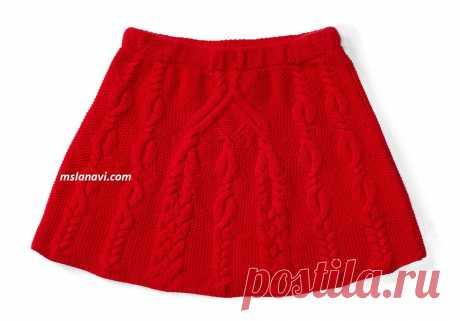 Вязаная детская юбка спицами | Вяжем с Лана Ви