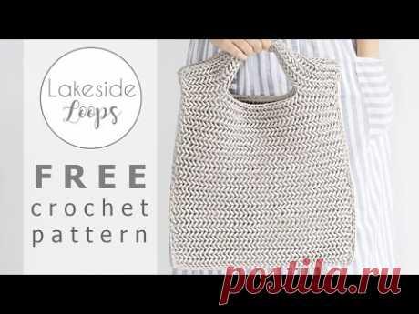 Neo Herringbone Single Crochet Bag FREE Crochet Pattern Video Tutorial