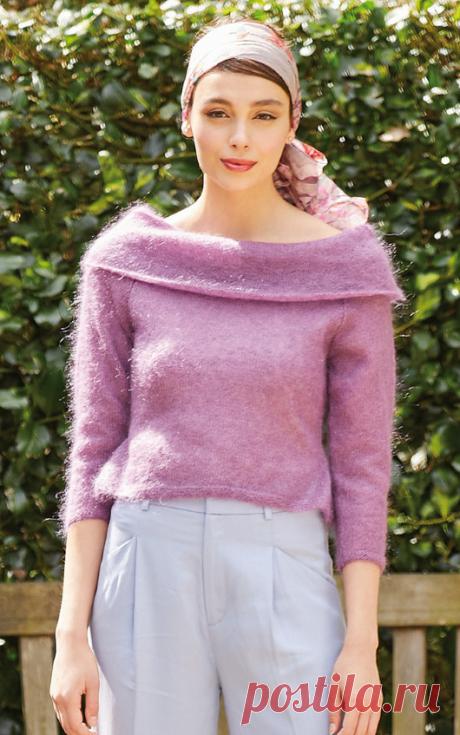 Вязаный пуловер Janet | ДОМОСЕДКА