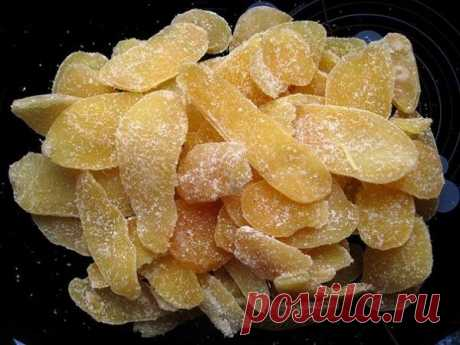Готовим вкусные и полезные цукаты из имбиря – универсальная «таблетка» от простуды