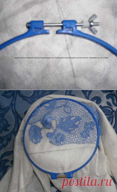 Вариант вязания сетки в ирландском кружеве