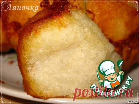 """Хлеб """"Обезьяний"""" с сыром и чесноком – кулинарный рецепт"""