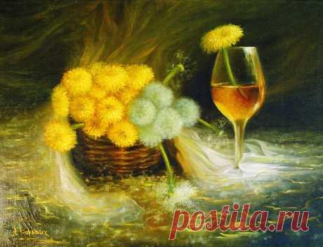 Вино из одуванчика Художник Боравик Андрей Иванович