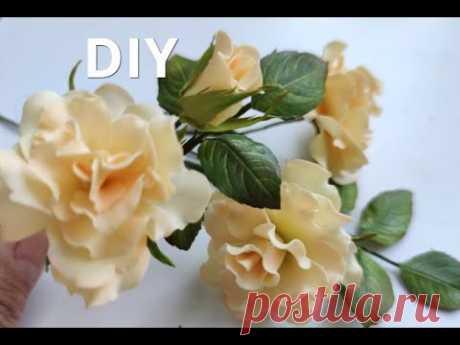 Трояндочки із фоамірану 🌸 Розочки из фоамирана 🌸🌸🌸 DIY Rose Flower Foam Paper / Flores foamy