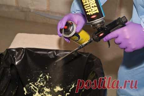 Простой способ промывки пистолета от монтажной пены