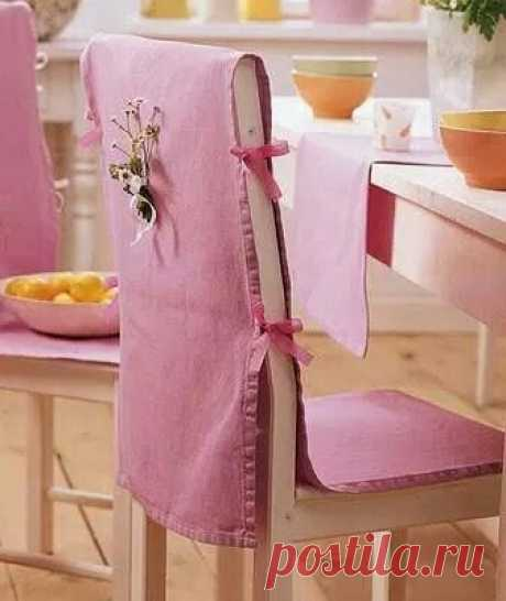 Шьем чехлы на стулья: шаблон и идеи — Сделай сам, идеи для творчества - DIY Ideas