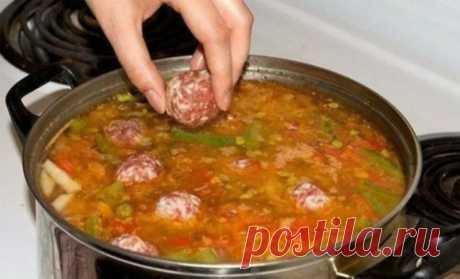 Вкусный суп с фрикадельками - СУПЕР ШЕФ