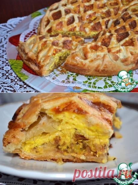 """Луковый пирог """"Чипполино"""" - кулинарный рецепт"""