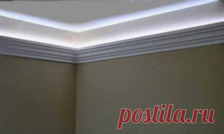 Как установить светодиодную подсветку на любой потолок | Своими руками