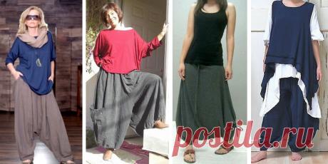 Летние свободные брюки на любой размер - много моделей и разнообразные выкройки на выбор | МНЕ ИНТЕРЕСНО | Яндекс Дзен