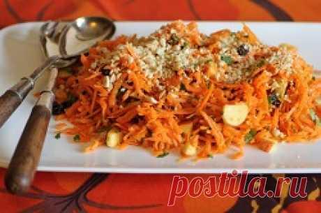 Яблочно-морковный салат с семечками | Краше Всех