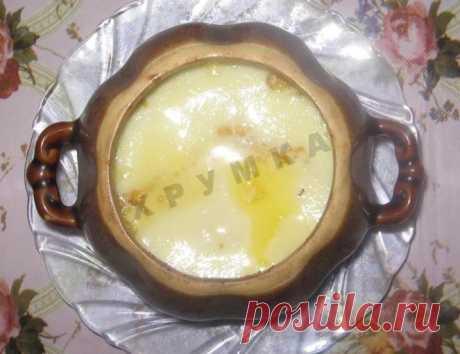 Молочная каша пшеничная с тыквой в горшочке на молоке