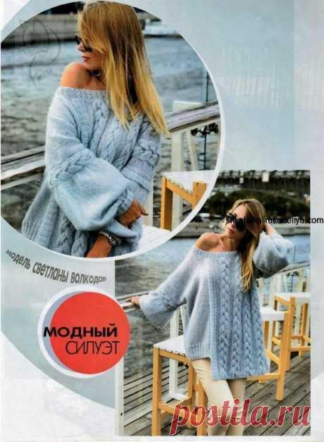 Dziana Moda: Ciekawy sweter na drutach