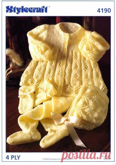 La labor de punto para los recién nacidos y los chiquitines de la ropa con los esquemas y la descripción. - la página 8