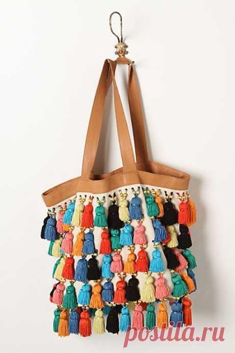 Сумка с кисточками) / Сумки, клатчи, чемоданы / Модный сайт о стильной переделке одежды и интерьера
