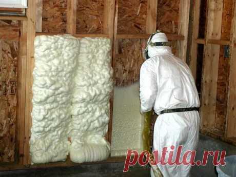 Утепление стен дома пеной: в баллонах, монтажная, жидкая и полиуретановая
