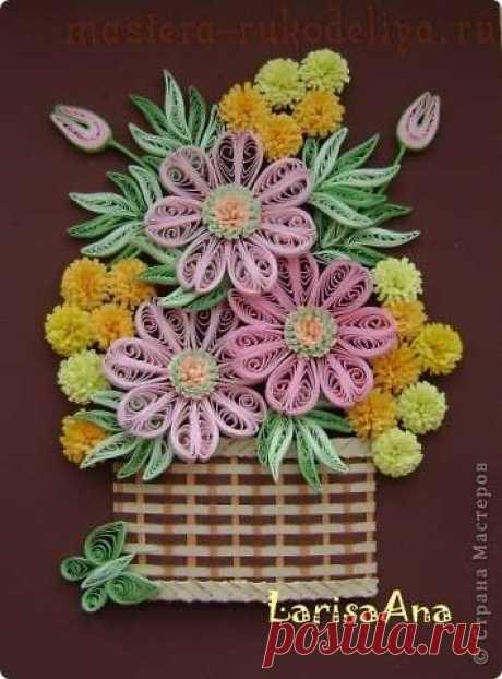 Мастер-класс по квиллингу: Плетёния для корзинки и косички из бумажных полос